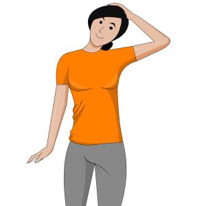 Richtiges und regelmäßiges Dehnen hält Nacken-Muskeln locker.