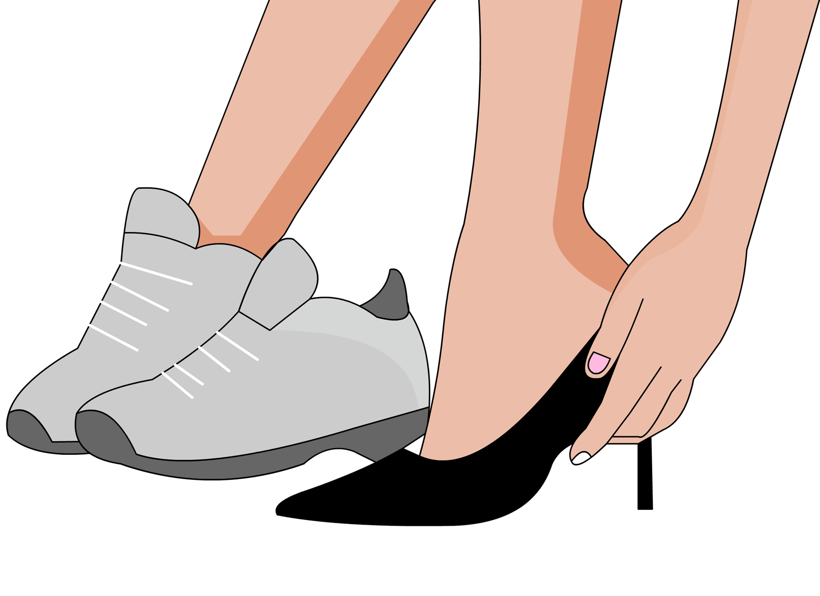 high heels und falsche schuhe sind ursache f r nackenschmerzen. Black Bedroom Furniture Sets. Home Design Ideas