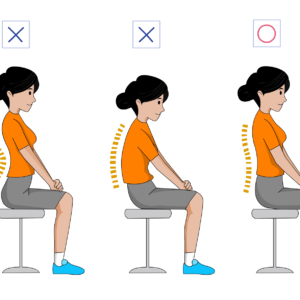Sitting correctly relaxes the back muscles and ensures that back pain and neck pain has less chance.
