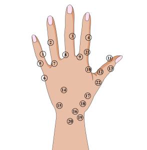 Die Hand-Reflexzonenmassage hat indirekten Einfluss auf Organe und kann Schmerzen im Nacken lindern