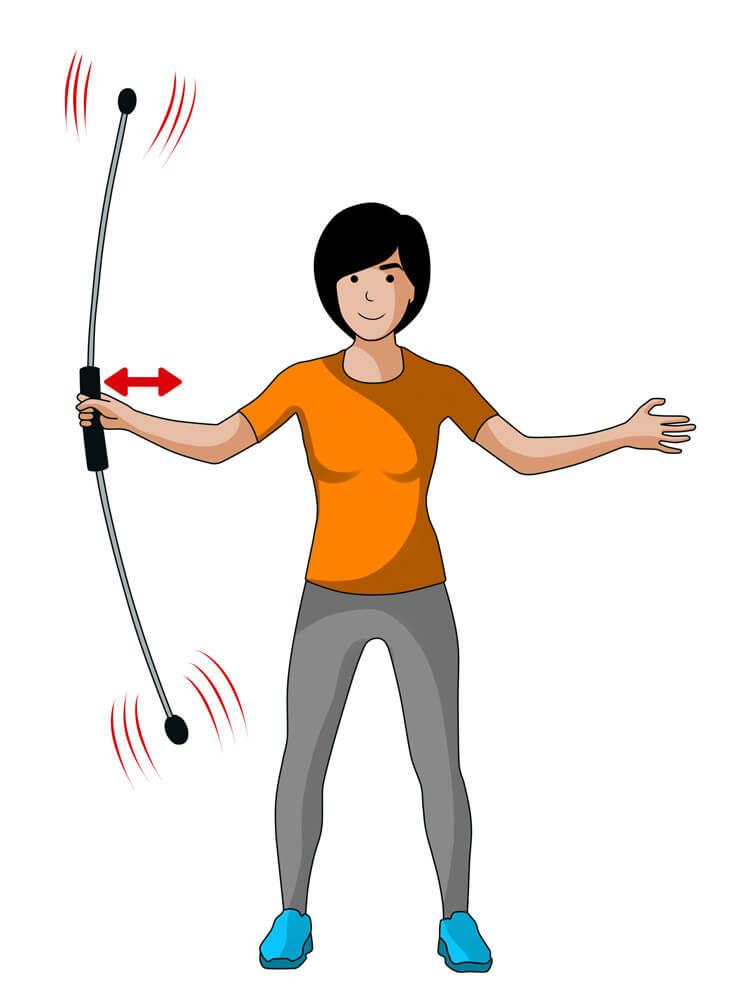 Mit dieser Übung stärken Sie die seitliche Nackenmuskulatur.