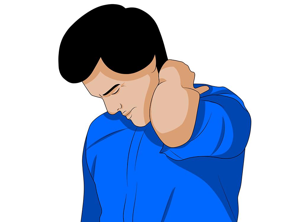 Schmerzhafte Nackenschmerzen nach einem Schleudertrauma