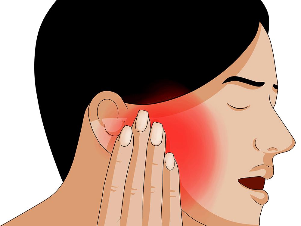 Ohrenschmerzen / Ohrbeschwerden durch Nackenschmerzen