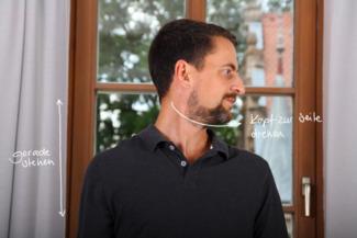 Übung Nacken mobilisieren durch Kopfdrehen